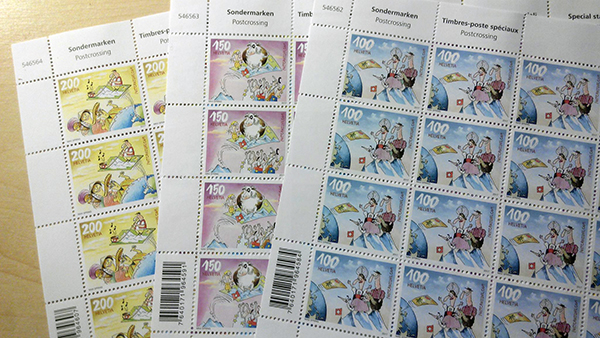 New Swiss Postcrossing stamps!