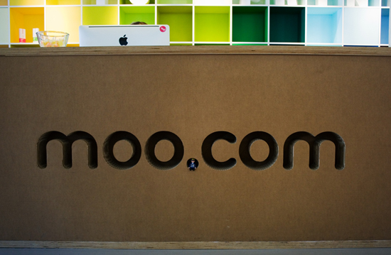 Hello from MOO's frontdesk! It's made of cardboard!