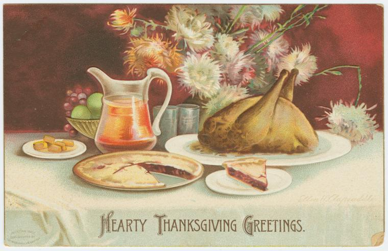 Hearty Thanksgiving greetings. Digital ID: 1588268. New York Public Library