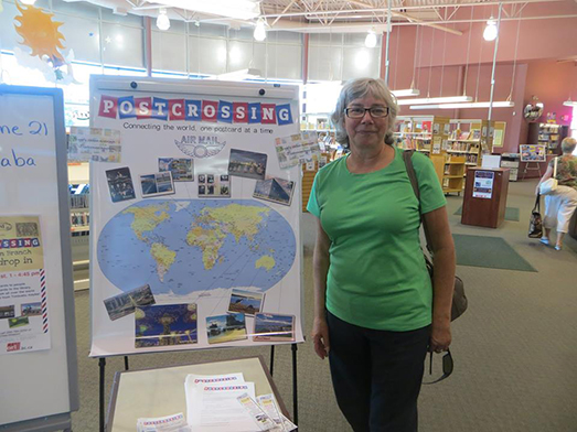 Postcrossing event at Okanagan Regional Library
