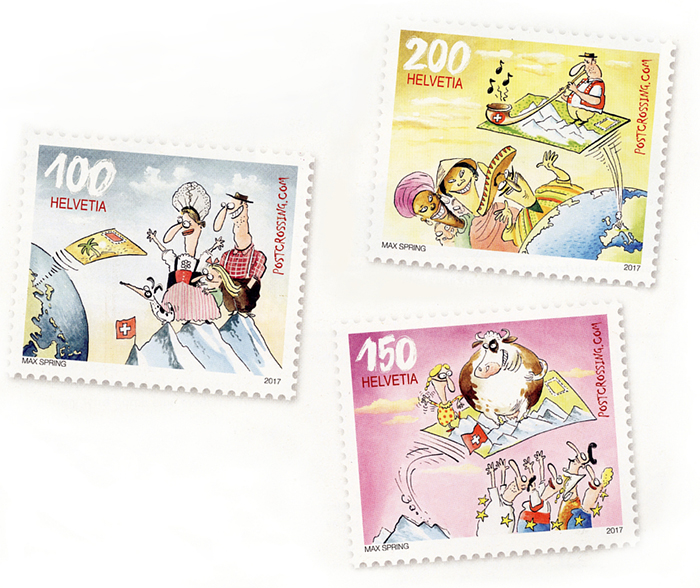 Swiss Postcrossing stamps