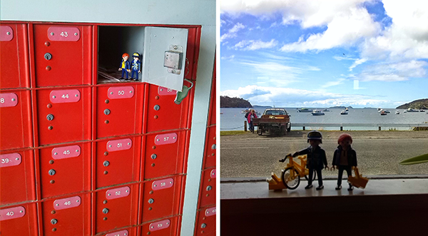 We finally made it to start our visit! There is no postman/woman on Stewart Island. All the mail comes via plane to the Post office which is also the Flight Centre and you have to go and pick it up.