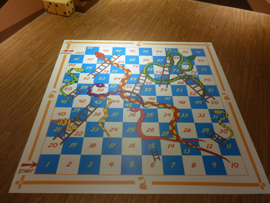 Snakes and ladders exhibition