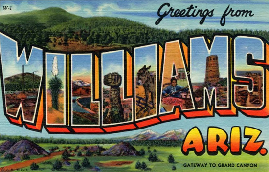Greetings from williams teich company postcard m4hsunfo