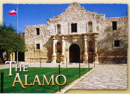 The Alamo in San Antonio Texas - a Spanish mission which was the scene of a famous batte in the history of Texas.