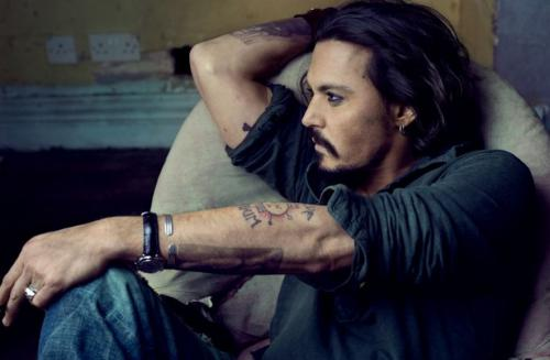 #342: My second Johnny Depp -postcard! Nice picture!