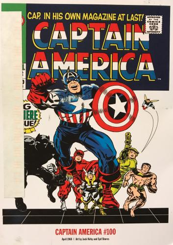 April 1968, the first Captain America comic book since WWII.