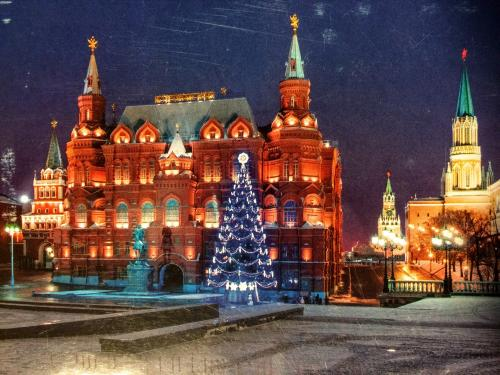 State Historical Museum at Red Square, Moscow, Russia.