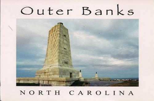 The Wright Borther's Monument: This is where the Wright Brothers started test flight in December 1903.