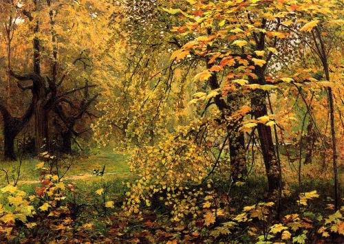 """Golden Autumn""   by I.S: Ostrouchow  (1858-1929) / Rossia"