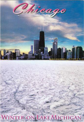 From USA. A view of the skyline from a frozen Lake Michigan. Thank you so much Frank!