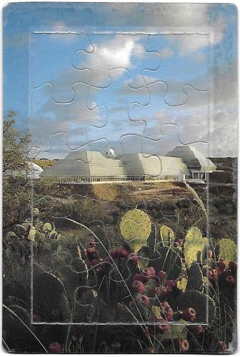 Awesome puzzle postcard of Biosphere 2!