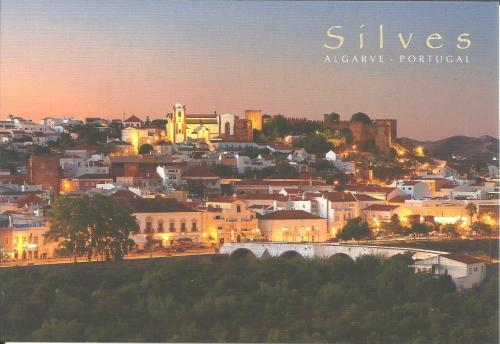 """Silves in Portugal, you can see the Roman bridge , castle from 9th century and cathedral from 13th to 15th century.