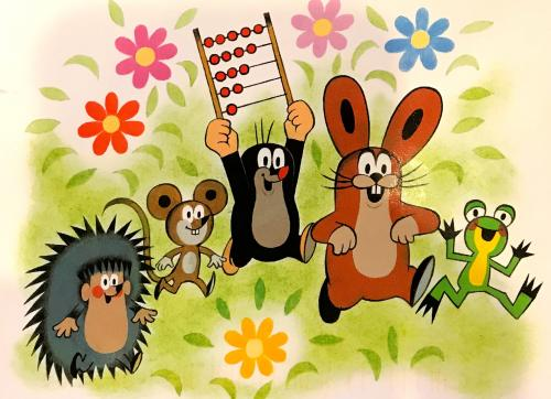 The Little Mole teaches children things through animated programming. A staple on German television, the program originated from Czechia.