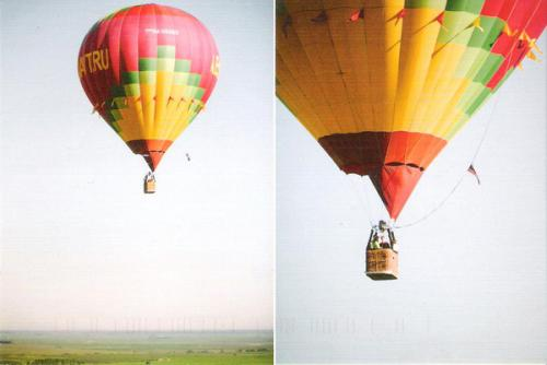 Colorful hot-air balloon. :)