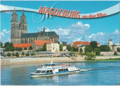 Germany -  View from the river Elba to the landmark of the city (Catherdral) / 18 ημερες.