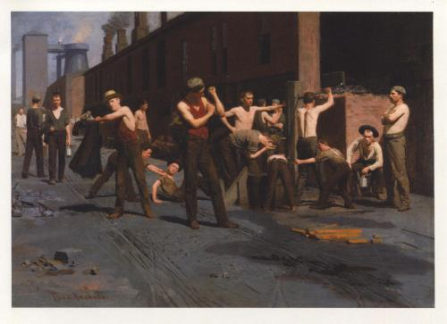 THOMAS POLLOCK ANSHUTZ,THE IRONWORKERS´NOONTIME,1880
