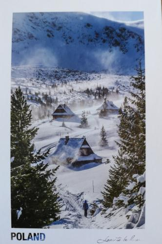 Natalia from Chrzanow in Poland send this scenic winter view card to me.