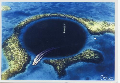 The Great Blue Hole located at Lighthouse Reef in Belize