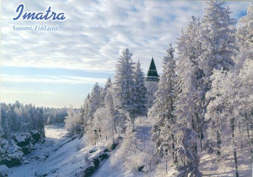 """The Castle stands by Imatra Rapids in Finland""