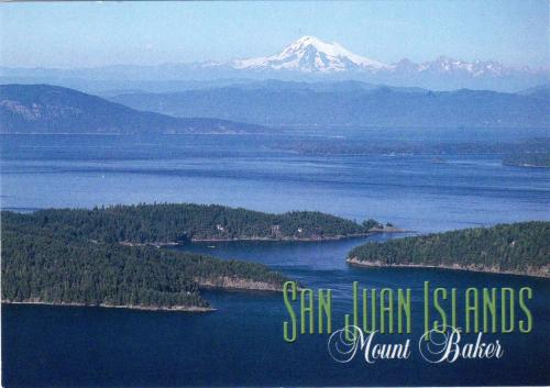 San Juan Islands with Mount Baker in the distance, State Washington, U.S.A.