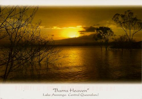 """Barra Heaven"" - Beautiful Lake Awoonga. Faye sent me this lovely sunset from Australia. Wonderful."