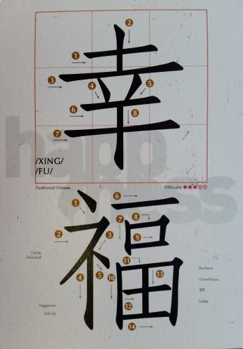 "how to write ""happiness"" on Chinese :))))))"
