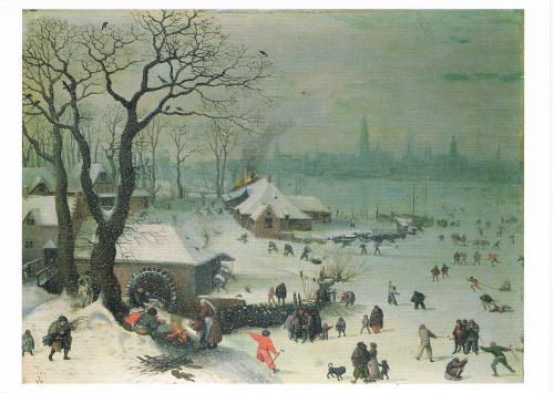Winter Landscape with Snowfall / Lucas Van Valcenborch 1535-1597