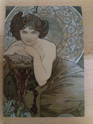 """The gems: emerald,1900,Alfons Mucha""