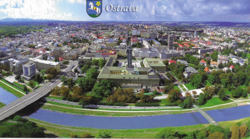 Ema from Ostrava in the Czech Republic send this scenic aerial view of the city to me.