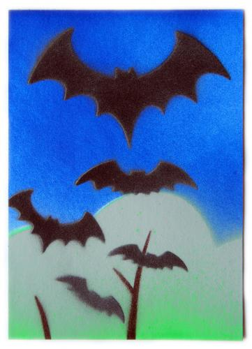 Homemade bat postcard! I love it, it's wonderful, thank you so much!