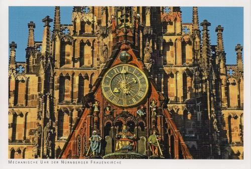 "Mechanical clock on the Nuremburg Frauenkirche (""Church of Our Lady"")"