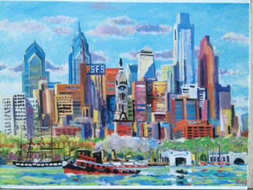 Phila. Skyline from Camden.