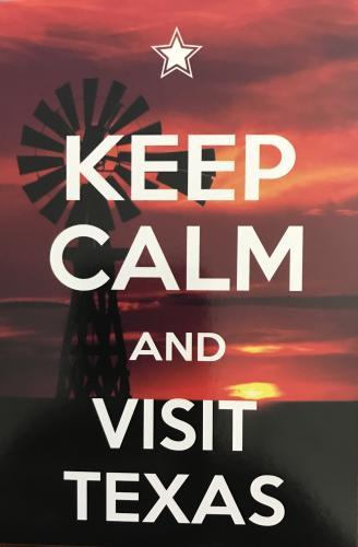 Keep Calm and visit Texas
