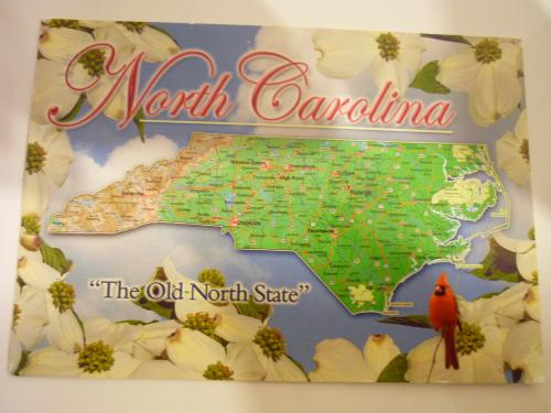 beautiful map postcard from North Carolina:)