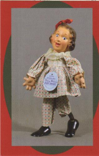 "12"" Ideal Flexie doll, Fanny Brice, ca 1938, United Federation of Doll Clubs collection"