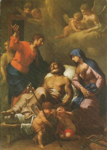 Death of Joseph by painter Martin Knoller