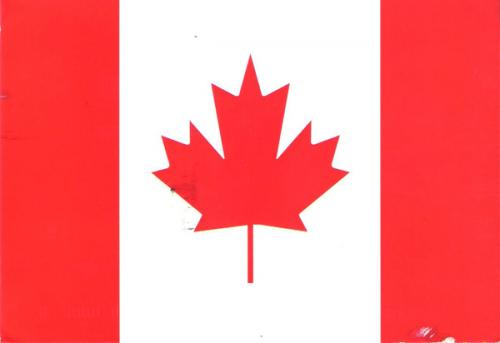 The newly designed Canadian flag was flown for the first time on February 15, 1965.