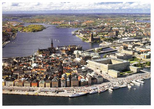 """High above the Old Town and the Royal Palace,Stockholm""