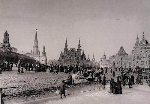 Popular festivities on Red Square marking the coronation, May 1896. Thanks for the beautiful card!