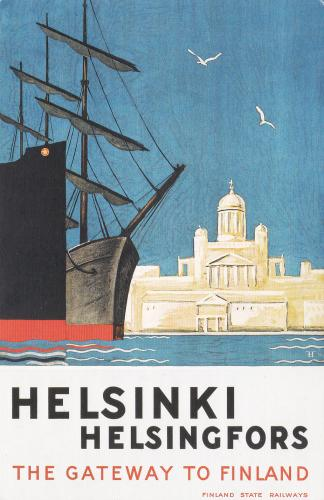 Finland State Railways travel poster from 1930.
