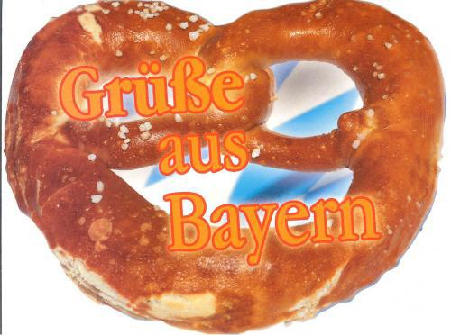 This is a card in the shape of the typical german snack for children, very lovely!