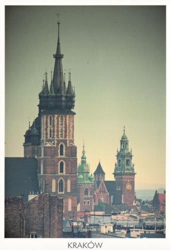 St. Mary's Church and Wawel Castle in Cracow, Poland