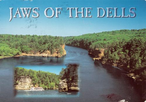 The Dells of the Wisconsin River, State Wisconsin, U.S.A.