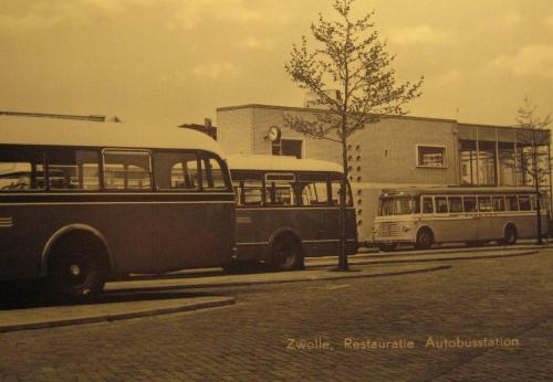 Restoration of bus station, Zwolle, circa 1954