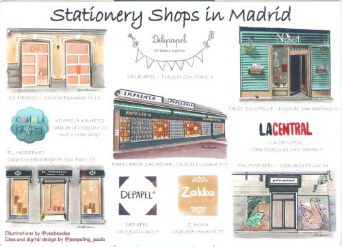 """Stationery Shops in Madrid""