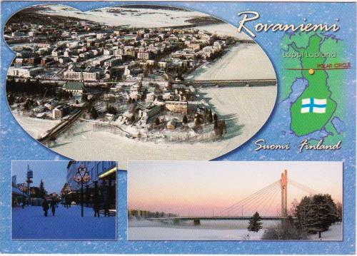 Postcard from Rovaniemi with amazing handwriting :)