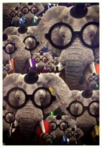 Thank you, Sardo, for the adorable card with so many nerdy elephants! :D