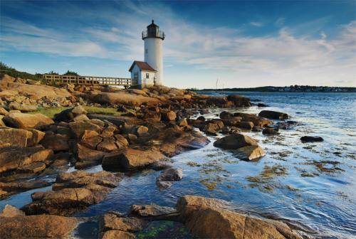 Annisquam Harbor Light Station is a historic lighthouse on Wigwam Point in the Annisquam neighborhood of Gloucester, Massachusetts.  Thanks to Justyna from Poland.