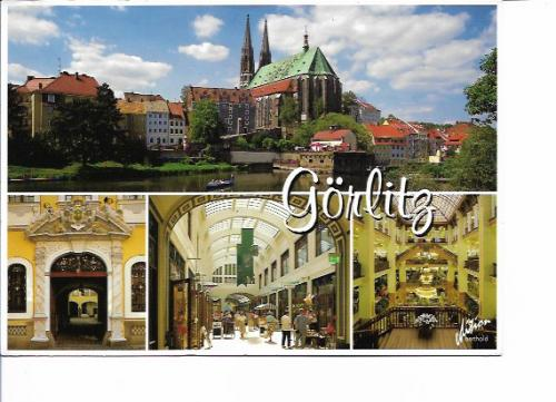 Ute from Frankfurt(Oder) in Germany send this scenic card of Gorlitz to me.